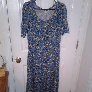 Large Lularoe Ana Maxi Floral Dress 😍😍😍